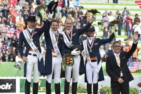 The British team win Bronze. Photo by Diana DeRosa