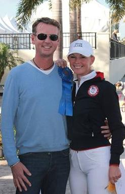 Carl Hester visited Wellington to coach longtime student Katherine Bateson-Chandler.