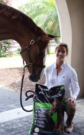 Grand Prix dressage rider and trainer Caroline Roffman is excited to add Nutrena® to her recipe for success (Photo courtesy of JRPR)