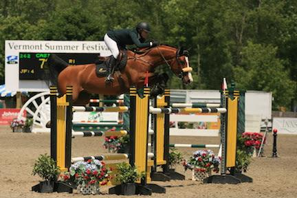 Cassandra Orpen, with grand prix mount Casis, is ranked third in the  0,000 Sir Ruly, Inc., Open Jumper Standings. (Photo: David Mullinix Photography)