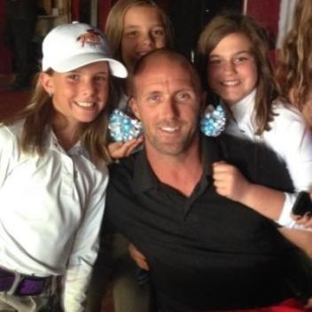 Chad Mahaffrey poses with the Boudreau girls