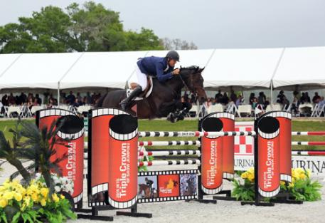 Charlie Jayne and Chill R Z on their way to a Great American  Million Grand Prix win at HITS Ocala. (C) ESI Photography