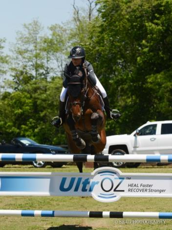 Charlise Casas and Alaika win the UltrOz Low Junior/Amateur-Owner Class. Photo: SEL Photography
