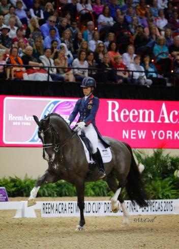 2015 Reem Acra FEI World Cup Dressage Champions Charlotte Dujardin of Great Britain and Valegro (c) McCool Photography