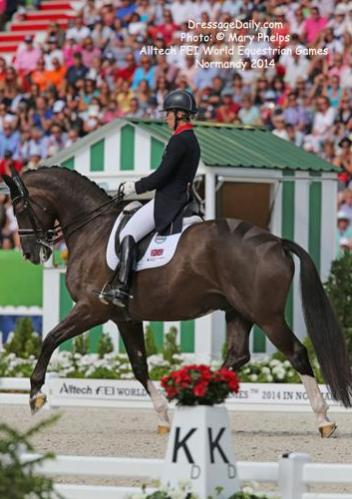 Charlotte Du Jardin and Valegro at the Alltech/FEI World Equestrian Games 2014