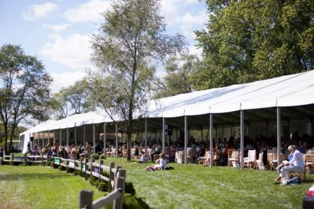 VIP seating and Champagne Brunch during the $50,000 USHJA International Hunter Derby. Photo Chicago Equestrian