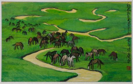 International Museum of the Horse Hosts Exhibition of Chinese Ink Horse Paintings