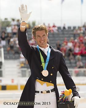 Chris von Martels of Ridgetown, ON, won an individual bronze medal in dressage competition at the TORONTO 2015 Pan American Games. (Photo © Cealy Tetley)