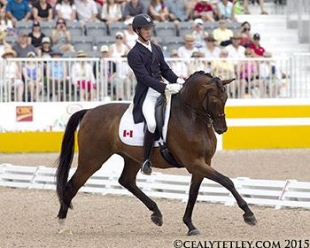 Chris von Martels of Ridgetown, ON, and Zilverstar led Canada to the team silver medal. Photo © Cealy Tetley