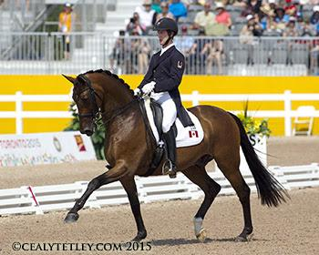 Canadian Dressage Team member Chris von Martels enjoyed a personal best in his Pan American Games debut riding Zilverstar. (Photo ©: Cealy Tetley - www.tetleyphoto.com)