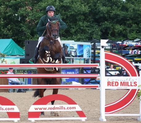 Cian O Connor and Aramis 573, winners of the 2014 Connolly's RED MILLS 7 & 8-year-old International final at the RDS, photo jumpingnews.com
