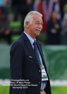 FEI Dressage Judge General Stephen Clarke will headline the 2015 Succeed/USDF FEI-Level Trainers Conference (Photo: Phelpsphotos.com)