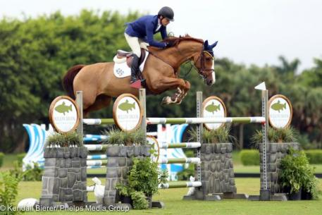 Conor Swail and Martha Louise won the Week 8 1.40m Wellington Turf Tour Grand Prix.