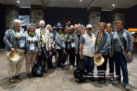 Cross Country Stewards at the Pam American Games, Toronto 2015  Photo: © Diana De Rosa