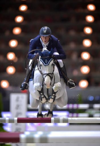 Reigning champion, Germany's Daniel Deusser, will be in action at the opening leg of the Longines FEI World Cup™ Jumping 2014/2015 Western European League series at Oslo in Norway next Sunday. (FEI/Arnd Bronkhorst)