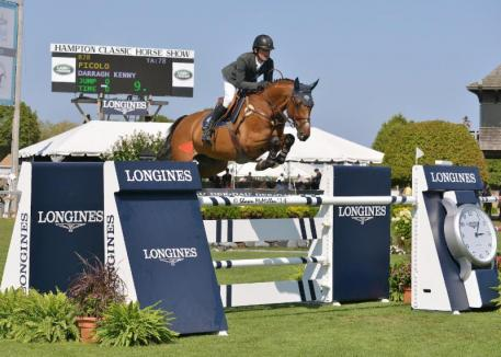 Picolo and Darragh Kenny claimed the $0,000 Longines Cup, presented by the Crown Family, at the Hampton Classic. (Shawn McMillen photo)