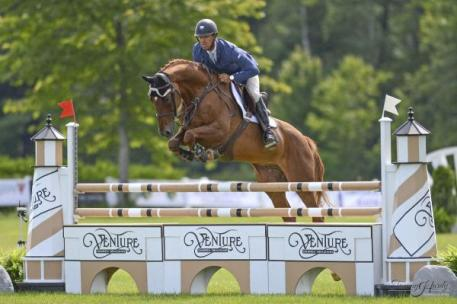 Darren Graziano, sponsor of the DG Ventures Speed Stake, competing at Silver Oak. Photo by Tammy Hardy