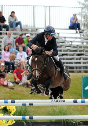 David Beisel and Amaretto take first place in the $50,000 HITS Grand Prix Sunday at HITS Ocala.(c) ESI Photography