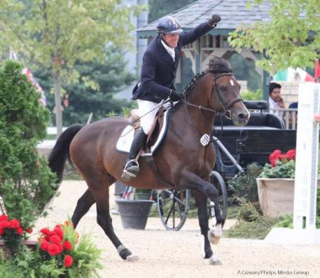 David Beisel celebrates after a speedy round on Ammeretto.