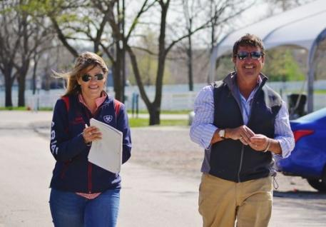 Joanie Morris and David O'Connor at Rolex. Photo by Jenni Autry.