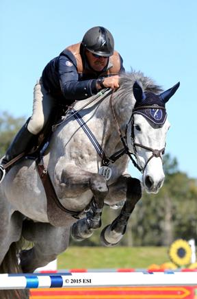 Derek Petersen and Cassevel win the $2,500 Brook Ledge Open Welcome Wednesday, January 28, 2015 at HITS Ocala.(c) ESI Photography