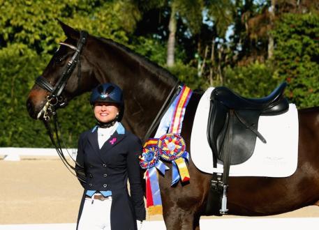 Devon Kane's first show of 2015 earned a score of 76.875 percent in the FEI Freestyle Grand Prix