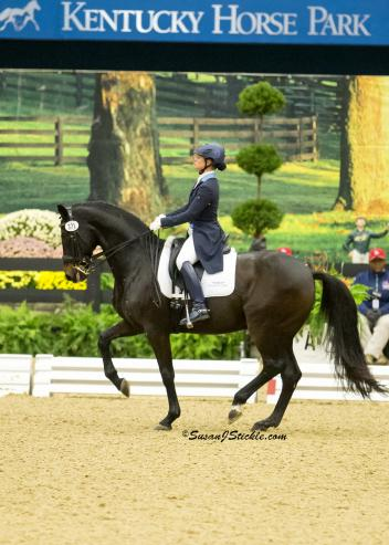 Devon Kane and Destiny on their way to victory at the US Dressage Finals (Photo: SusanJStickle.com)