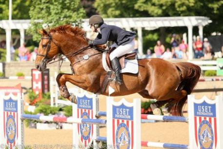 Dorothy Douglas and S&L Elite win the $50,000 Barrington Saddlery Grand Prix as the only pair to jump double clear.