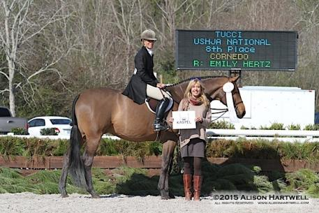 Dudley MacFarlane was presented the Kastel Denmark Hunter Style of Riding Award by Lisa Engel, Classic Company Director of Sponsorship and Marketing