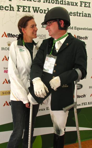 """We were always friends and competitors,"" says Philippa Johnson-Dwyer meeting James after his ride."