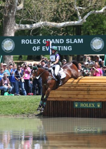 Emily Bershear and her mount Here's To You at the 2012 Rolex Kentucky Three-Day Event