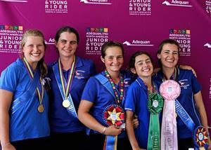 Endurance Team Gold medalists, USA Southeast - Mallory Capps, Mary Kathryn Clark, Kelsey Russell, Annie Whelan, and Katie Baldino (Photo: Inspire Grace Photography)