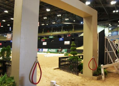 Competitors get ready to compete in the Alltech Arena at the US Dressage Finals presented by Adequan®