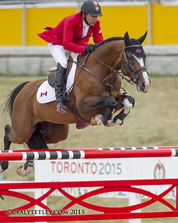 Eric Lamaze of Schomberg, ON, placed 22nd individually in his fifth consecutive Pan American Games riding Coco Bongo, owned by Artisan Farms LLC. (Photo: © Cealy Tetley)