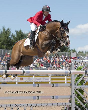 Eric Lamaze and Coco Bongo, owned by Artisan Farms LLC, thrilled the home crowd by jumping clear. (Photo: © Cealy Tetley)