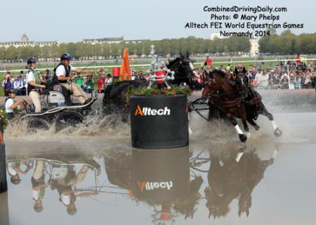 Boyd Excell on his winning Cross Country at the Alltech/FEI World Equestrian Games, Normandy 2014. Photo: Mary Phelps