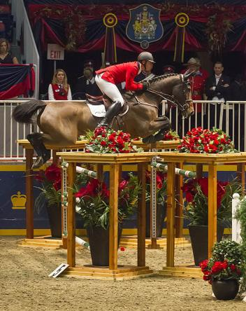 Third in the 00,000 Hickstead FEI World CupTM Grand Prix, Presented by Hudson's Bay, went to Belgium's Francois Mathy tonight, with D'atlantique Royale, at the CSI4*-W Toronto, the Royal Horse Show. Photo: BenRadvanyi.com