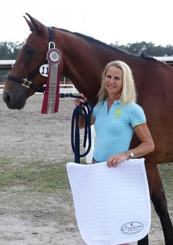 Franziska Seidl becomes the newest Custom Saddlery Most Valuable Rider (MVR) at the May Day Qualifier One dressage show in Jacksonville, Florida
