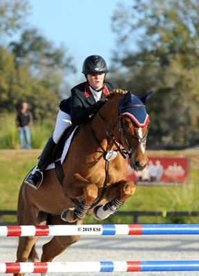 Gabriella Fournier and Milky Way Win $2,500 Low Junior Classic. (c) ESI Photography