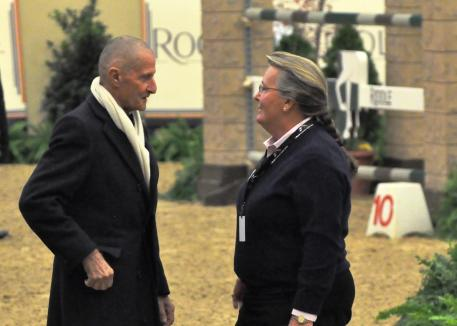 George H. Morris and Carney at the National Horse Show.
