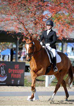 Amy Gimbel of New Jersey rode Eye Candy to Championship  and Reserve Championship titles on the final day of the US Dressage Finals presented by Adequan®. (Photo by Susan J. Stickle)