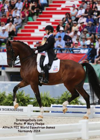 Laura Graves and Verdades at the Alltech/FEI World Equestrian Games, Normandy 2014
