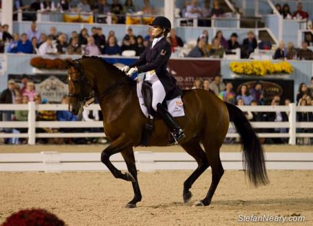 Ashley Holzer and Tiva Nana take the Grand Prix qualifier for Saturday night's Musical Freestyle (Photo: Stefan Neary)