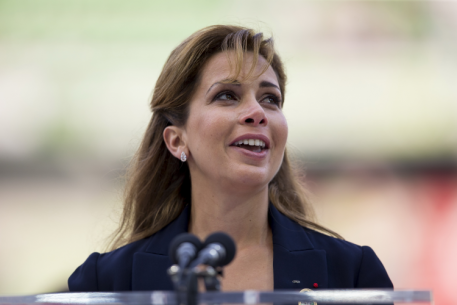 FEI President HRH Princess Haya was visibly moved as she thanked Normandy and France for two weeks of incredible sport before declaring the Alltech FEI World Equestrian Games™ 2014 officially closed. (Leanjo de Koster/FEI).
