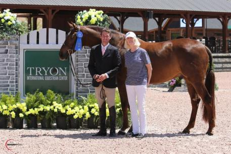 Hunt Tosh with Casanova and owner Dr. Betsee Parker
