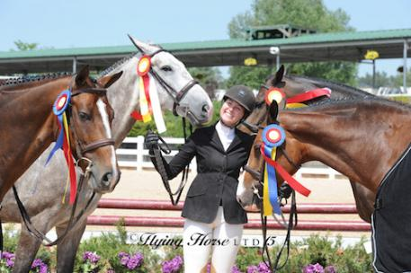 Hunter Holloway was the big winner in the Junior Hunters  at Summer in the Rockies IV (Photo: Flying Horse Photography)