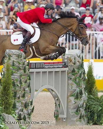 Ian Millar of Perth, ON, won a team gold medal and tied for 16th individually in his record tenth Pan American Games appearance riding Dixson, owned by Susan and Ariel Grange. (Photo: © Cealy Tetley)