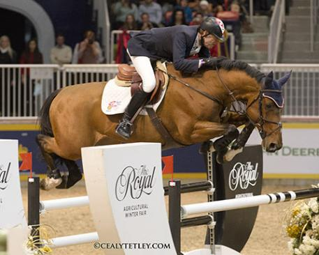 "Ian Millar of Perth, Ont., won the 2014 Greenhawk Canadian Show Jumping Championship on Nov. 8 at The Royal Horse Show in Toronto, ON."" Photo by Cealy Tetley"