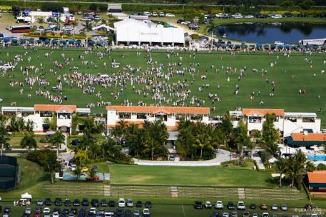 Aerial view of the divot stomp at IPC. Photo: LILA PHOTO.