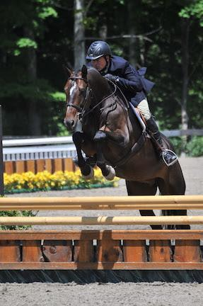 Jeffrey Ayers riding Exclaim won the Pre-Green Incentive Stake on July 15 at the Vermont Summer Festival in East Dorset, VT. (Photo: David Mullinix Photography)